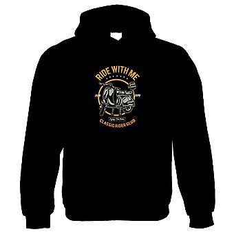 Ride With Me Hoodie - Motorbikes Gift Him Her