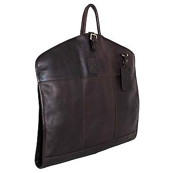 Ashwood Leather Chelsea Veg Tan Harper Folded Suit Carrier - Brown
