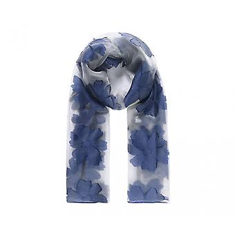 Intrigue Womens/Ladies Jacquard Floral Voile Scarf
