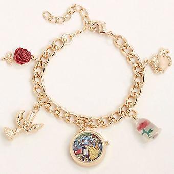 Beauty and the Beast Watch Charm Bracelet