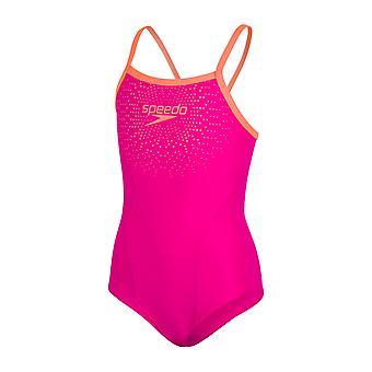 Speedo Gala Logo Thinstrap Muscleback Swimwear For Girls