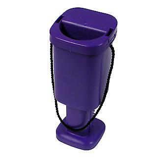 5 Square Charity Money Collection Boxes - Purple