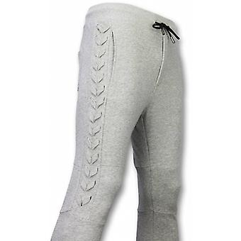 Casual Joggingbroek - Braided Joggingbroek - Grijs