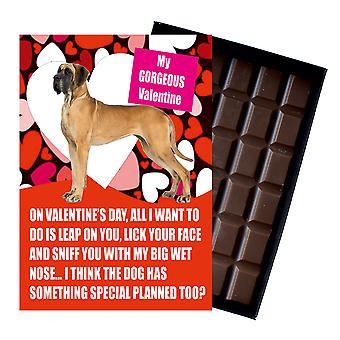 犬愛好家ボックスチョコレートのためのバレンタインデープレゼントのための偉大なデーンギフト