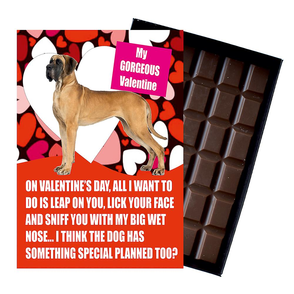 Great Dane Gift for Valentines Day Presents For Dog Lovers Boxed Chocolate