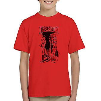 Flash Gordon And Dale Back To Back Kid's T-Shirt