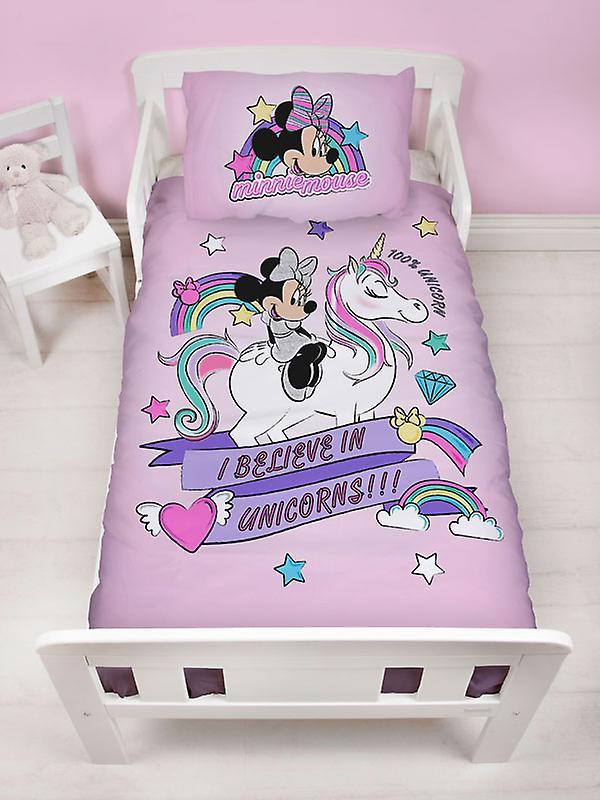 Minnie Mouse Believe 4 in 1 Junior Bedding Bundle Set (Duvet, Pillow