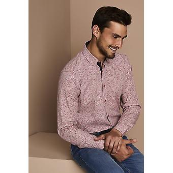 Simon Jersey Men's Pink Patterned Shirt