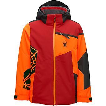 Spyder CHALLENGER Ragazzi Repreve PrimaLoft Ski Jacket Rosso