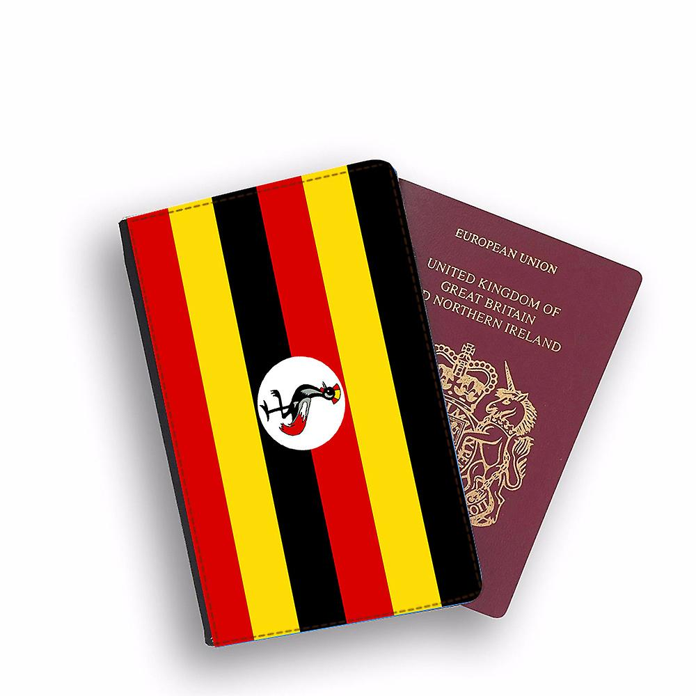 UGANDA Flag Passport Holder Style Case Cover Protective Wallet Flags design