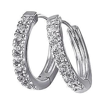 Goldmaid Silver Silver Earrings Brilliant Oxidized - White Cubic Zirconia - White