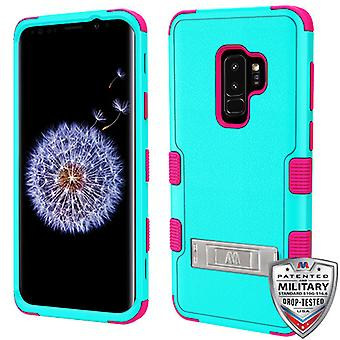 MYBAT Natural Teal Green/Electric Pink TUFF Hybrid Phone Protector Cover for Galaxy S9 Plus MYBAT Natural Teal Green/Electric Pink TUFF Hybrid Phone Protector Cover for Galaxy S9 Plus MYBAT Natural Teal Green/Electric Pink TUFF Hybrid Phone Protector Cover for Galaxy S9 Plus MYBAT