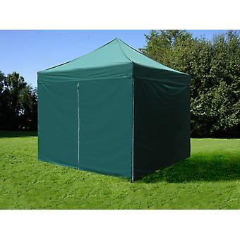 Vouwtent/Easy up tent FleXtents PRO 3x3m Groen, inkl. 4 Zijwanden