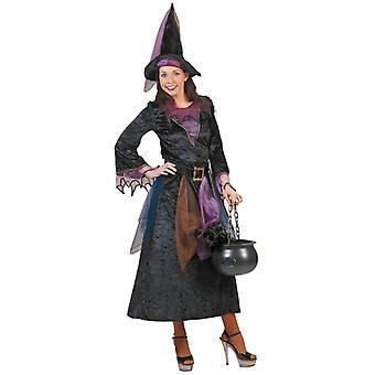 Hexe Zauberin Mitternachtsgirl Damenkostüm Halloween Fasching Witch Kostüm Damen