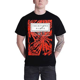 21 Twenty One Pilots T Shirt Floral Clique Band Logo Official Mens New Black