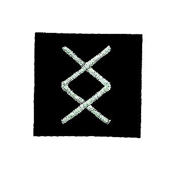 Patch Ecusson Brode Thermocollant Viking Odin Witchcraft Rune Alphabet Living