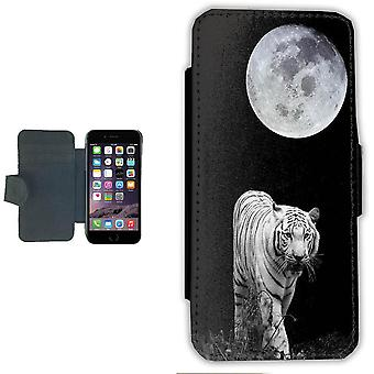 iPhone 7/8 wallet case picture shell-White Tiger Moon