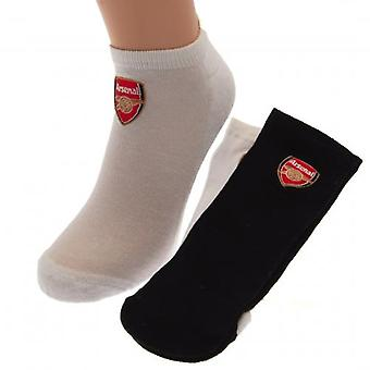 Arsenal 2pk Mens Trainer Socks