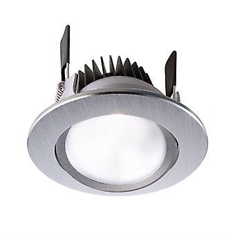 LED inbouw plafond lamp COB 95 CCT zilver geborsteld D 108mm 16 watt 2500-6500 K IP20