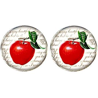 Bassin and Brown Apple Cufflinks - Red