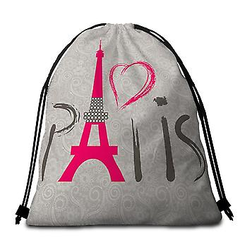 Simply Wholesale Paris Beach Towel