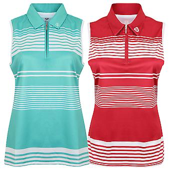Island Green Womens Sub Sleeveless Stripe Performance Golf To