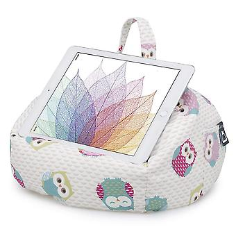 Ipad, tablet & ereader bean bag stand by ibeani - owl