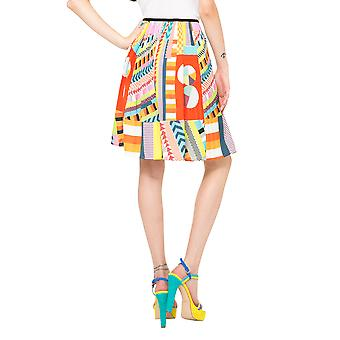Desigual de L Women's Bright Pleated Flared Sofia Skirt