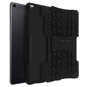 Shockproof Stand case, Backcover Samsung Galaxy Tab A 8.0 2019 & Kickstand Black