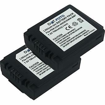 2 x Dot.Foto Panasonic CGA-S002, CGA-S002E DMW-BM7 akun - 7.2V / 700mAh