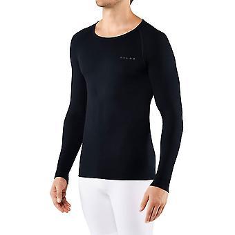Falke Long Sleeved Figure Hugging Shirt - Night Sky Navy
