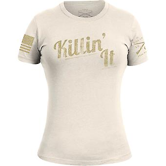 Grunt Style Donne's Killin' It T-Shirt - Off Bianco