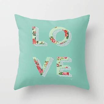 Floral love cushion/pillow