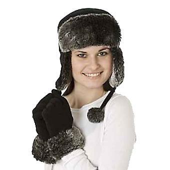 Nieuwe dames Faux Fur Chilton Trapper Hat-handschoen Winter set