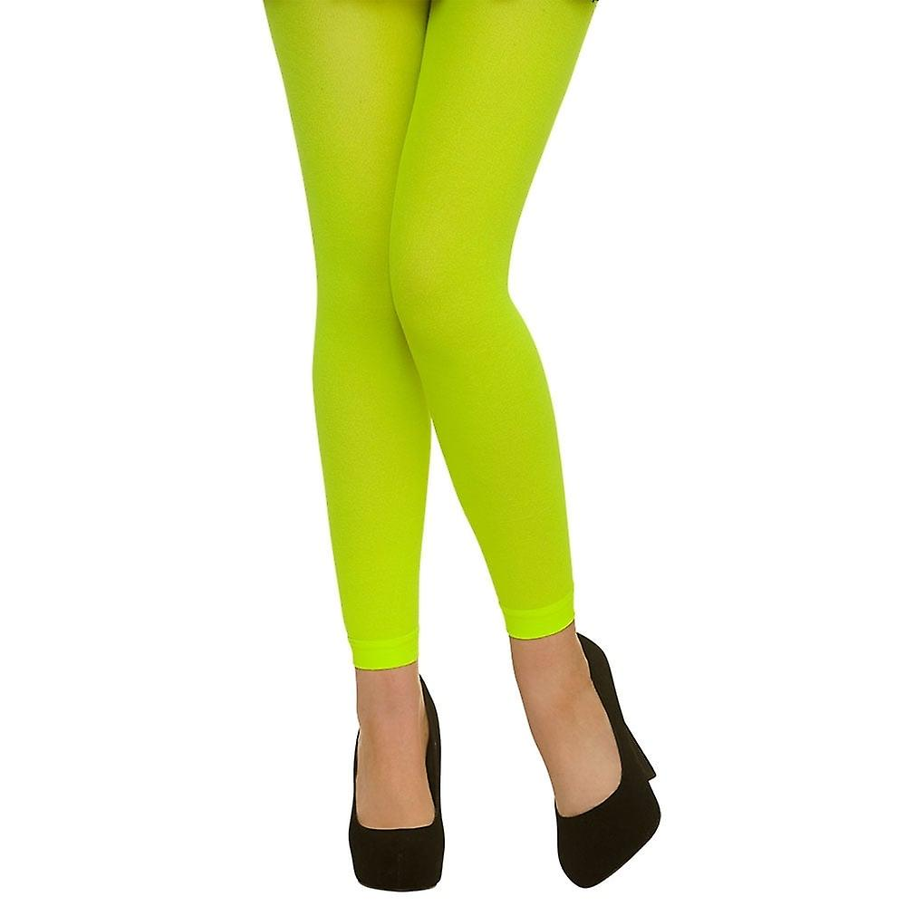Wicked Costumes Footless Tights - Neon Green