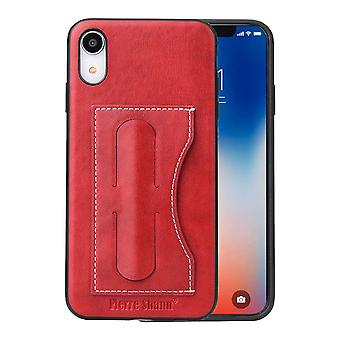 For iPhone XR Case Red Luxury Leather Back Shell Cover