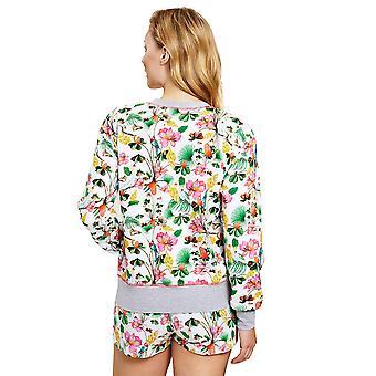 Rösch 1202017-16072 Women's Be Happy Multicoloured Jungle Floral Loungewear Jacket