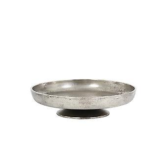 Light & Living Dish 30x8cm Reddal Raw Antique Nickel