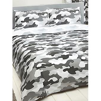 Army Camouflage Reversible Duvet Cover and Pillowcase Set