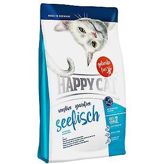 Happy Cat Sensitive Cat Food Grainfree Fish Marino (Cats , Cat Food , Dry Food)
