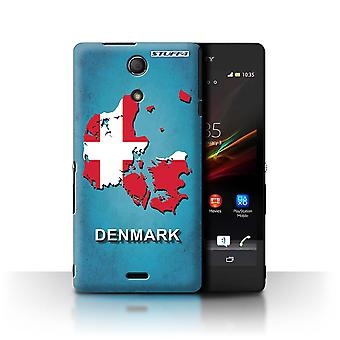 STUFF4 Case/Cover for Sony Xperia ZR/Denmark/Danish/Flag Nations