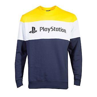 Playstation Collegepaita Colour Block Classic Logo uusi virallinen Miesten