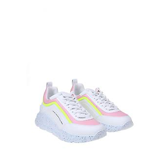 Msgm 2841mds21117312 Women's White Leather Sneakers