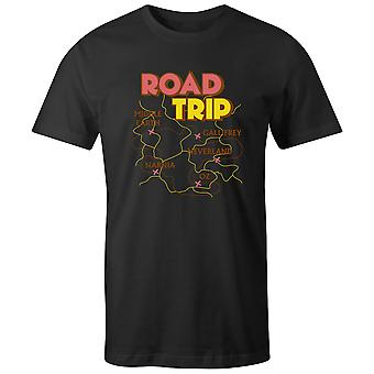 Boys Crew Neck Tee Short Sleeve Men's T Shirt- Road Trip