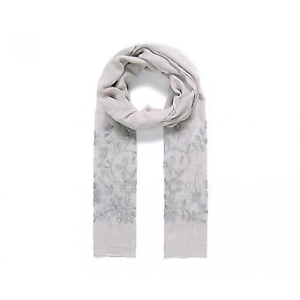 Intrigue Womens/Ladies Foliage Embroidered Scarf