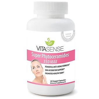 Vitasense Super Phytoceramides 350mg Max - Skin Restoring Anti-ageing Skin Hair & Nails Ceramides With Vitamin Complex - 30 Capsules