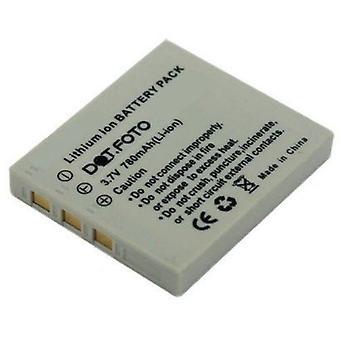 De batterij van de vervanging van de NP-40 van Dot.Foto Praktica - 3.7V / 780mAh