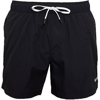 Ermenegildo Zegna Signature Logo Swim Shorts, Matt Navy