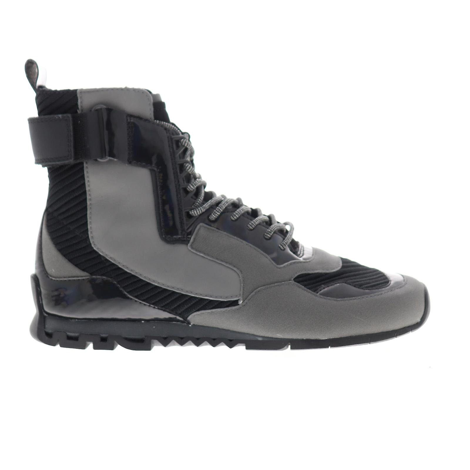 Camper Nothing Mens Gray Nubuck Cuir High Top Sneakers Chaussures