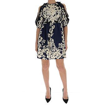 Red Valentino Tr0van0550t648 Women's Blue Silk Dress